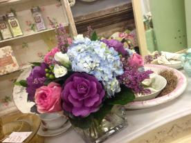 purple cabbage arrangement