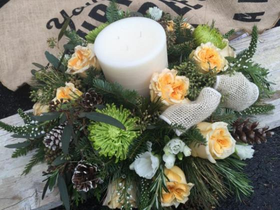shabby chic with candle