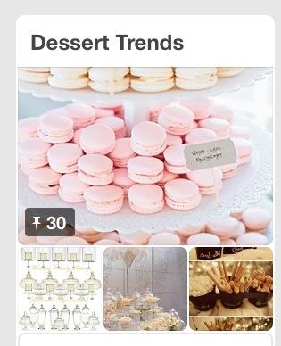 pinterest dessert trends